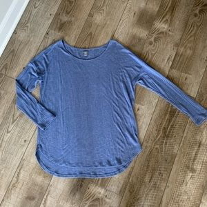 Aerie blue ribbed long sleeve top